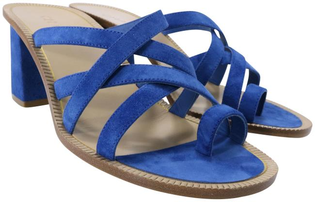 Item - Blue Suede Calf 70mm Medussa Strappy Mules Big C204 Sandals Size EU 39.5 (Approx. US 9.5) Regular (M, B)