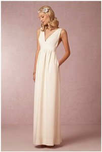 BHLDN Ivory Crepe Daphne Casual Wedding Dress Size 4 (S)