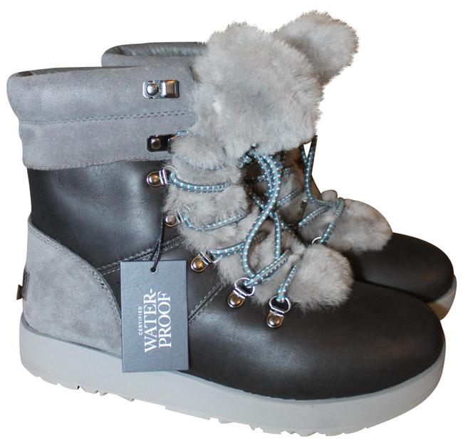 Item - Gray Viki Waterproof Leather Shearling Winter Boots/Booties Size US 6 Regular (M, B)