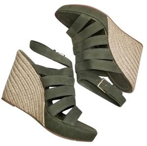 Tory Burch Bailey Multistrapwedge Espadrille Green Wedges