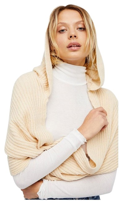 Item - Taupe Bottom Line Hooded Rib Knit Infinity Scarf/Wrap