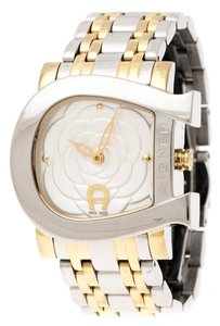 Etienne Aigner Floral Two-Tone Stainless Steel Genua Due A31600 Women'sWristwatch31mm
