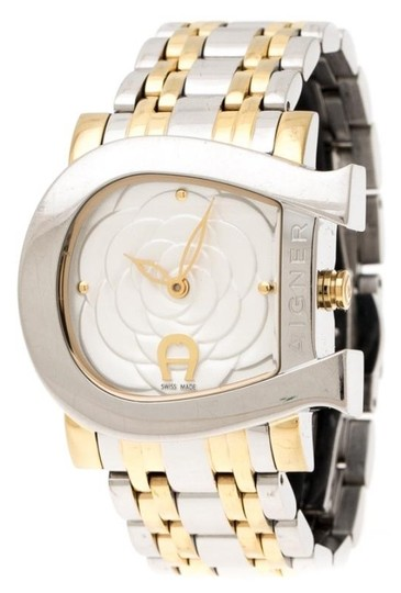 Preload https://img-static.tradesy.com/item/26161671/etienne-aigner-silver-floral-two-tone-stainless-steel-genua-due-a31600-women-swristwatch31mm-watch-0-1-540-540.jpg
