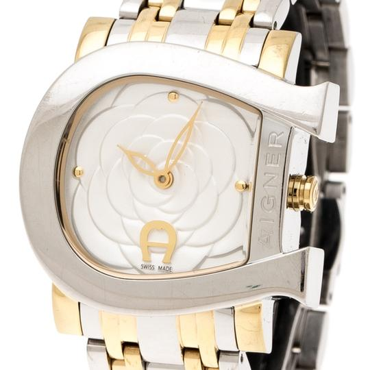 Etienne Aigner Floral Two-Tone Stainless Steel Genua Due A31600 Women'sWristwatch31mm Image 1