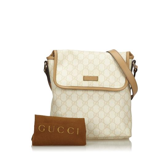 Gucci 9ggucx018 Vintage Leather Cross Body Bag Image 10