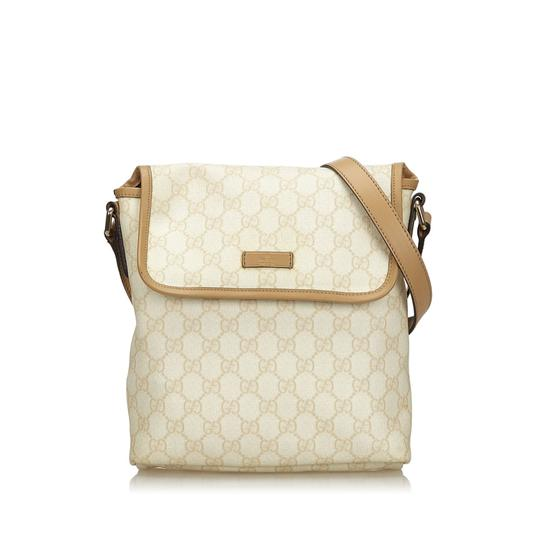 Gucci 9ggucx018 Vintage Leather Cross Body Bag Image 9