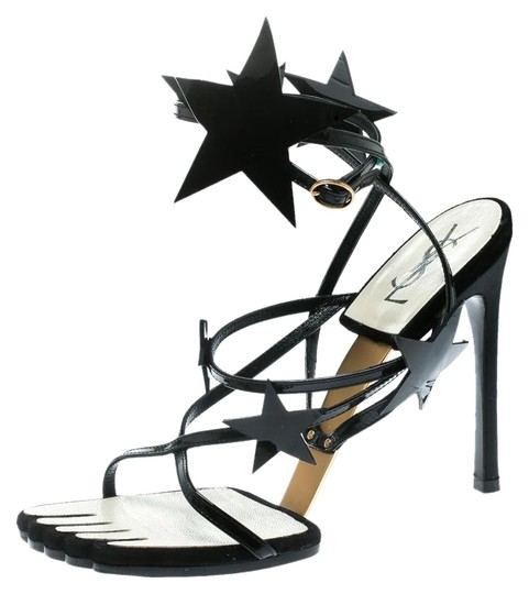 Preload https://img-static.tradesy.com/item/26161680/saint-laurent-black-patent-leather-star-ankle-wrap-sandals-size-eu-38-approx-us-8-regular-m-b-0-1-540-540.jpg