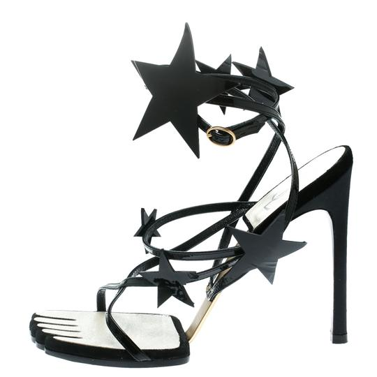 Saint Laurent Patent Leather Ankle Black Sandals Image 1