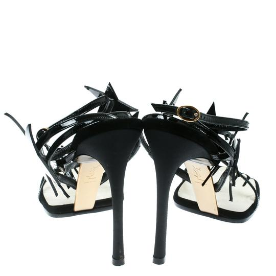 Saint Laurent Patent Leather Ankle Black Sandals Image 3