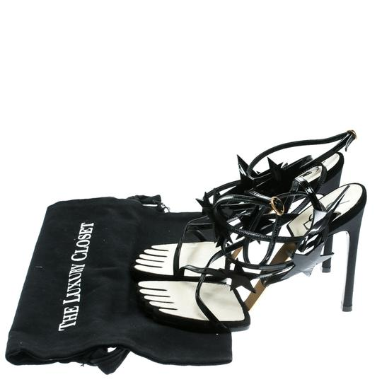 Saint Laurent Patent Leather Ankle Black Sandals Image 7