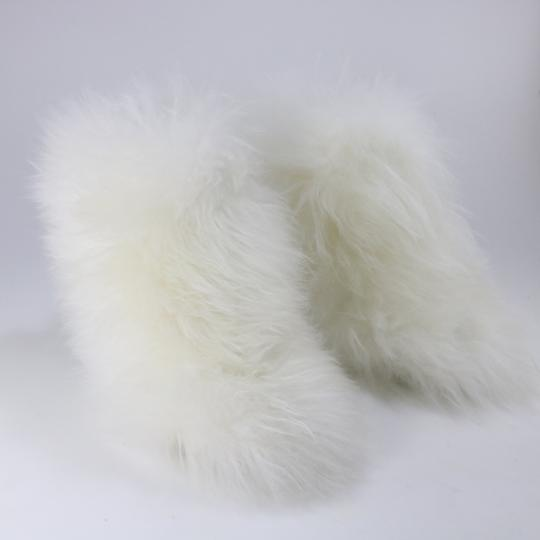 Chanel Runway Fur Fur white Boots Image 2