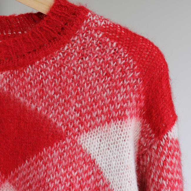 Sandro Plaid Check Mohair Sweater Image 2
