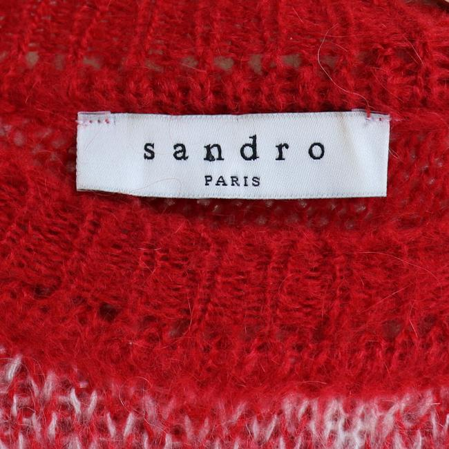 Sandro Plaid Check Mohair Sweater Image 3