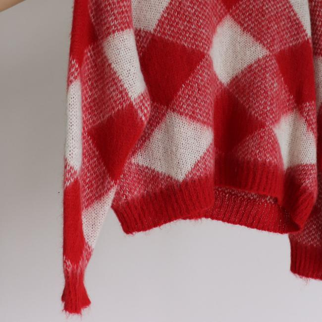 Sandro Plaid Check Mohair Sweater Image 4