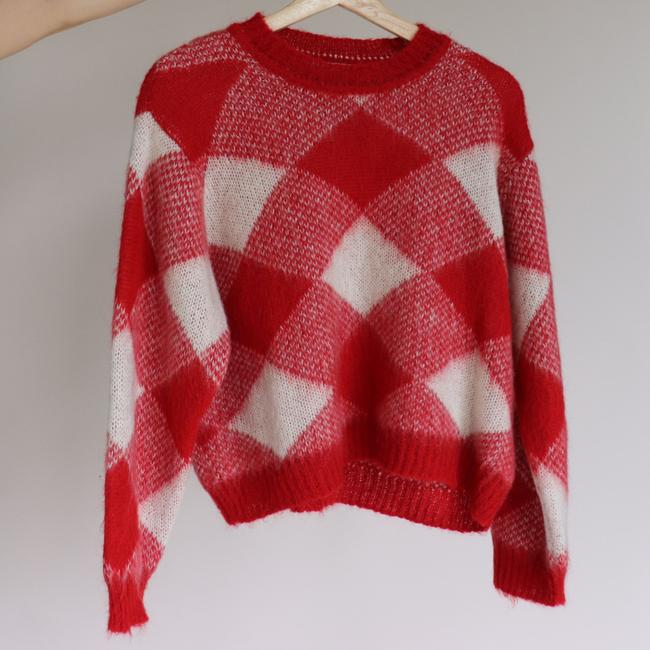 Sandro Plaid Check Mohair Sweater Image 5