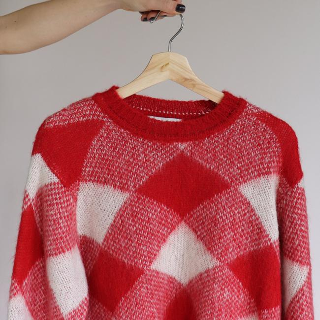 Sandro Plaid Check Mohair Sweater Image 6