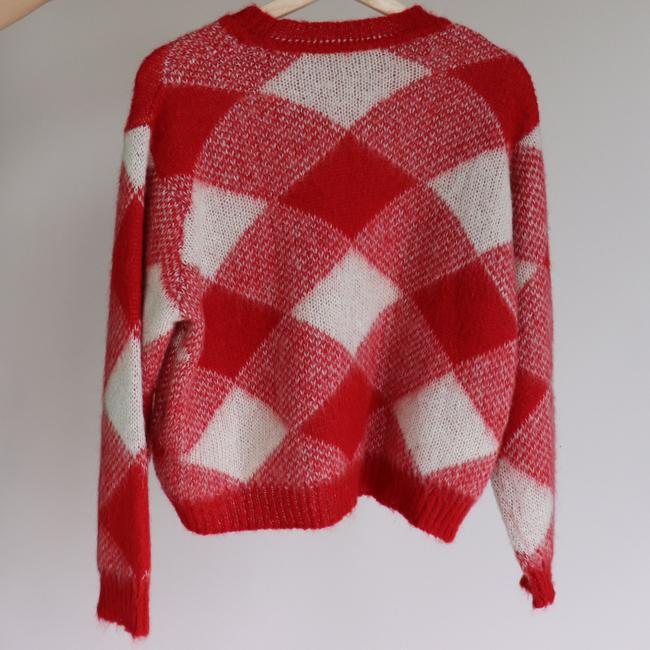 Sandro Plaid Check Mohair Sweater Image 7