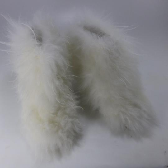 Chanel Runway Fur Fur white Boots Image 3