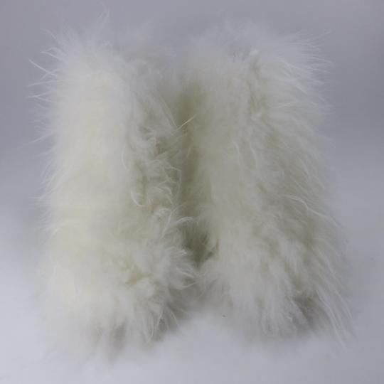 Chanel Runway Fur Fur white Boots Image 4