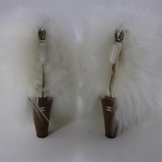 Chanel Runway Fur Fur white Boots Image 8