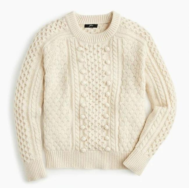 J.Crew Popcorn Cream Cable Knit Sweater Image 2