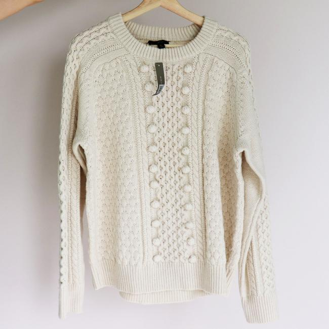 J.Crew Popcorn Cream Cable Knit Sweater Image 3