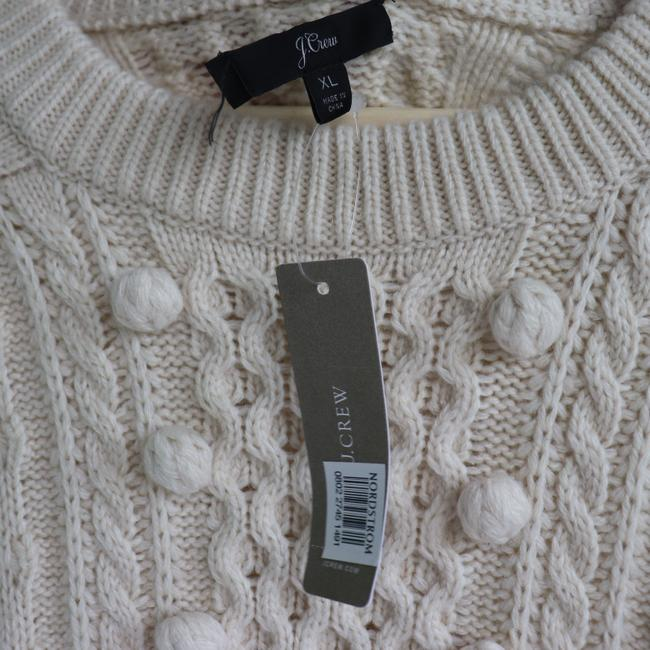 J.Crew Popcorn Cream Cable Knit Sweater Image 6