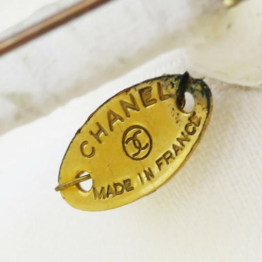 Chanel White Camellia Canvas France Brooch/Pin Image 6