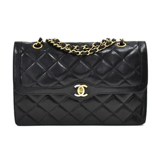 Preload https://img-static.tradesy.com/item/26161750/chanel-double-flap-vintage-classic-quilted-paris-limited-black-leather-shoulder-bag-0-0-540-540.jpg