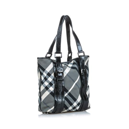 Burberry 9dbuto022 Vintage Leather Tote in Black Image 2
