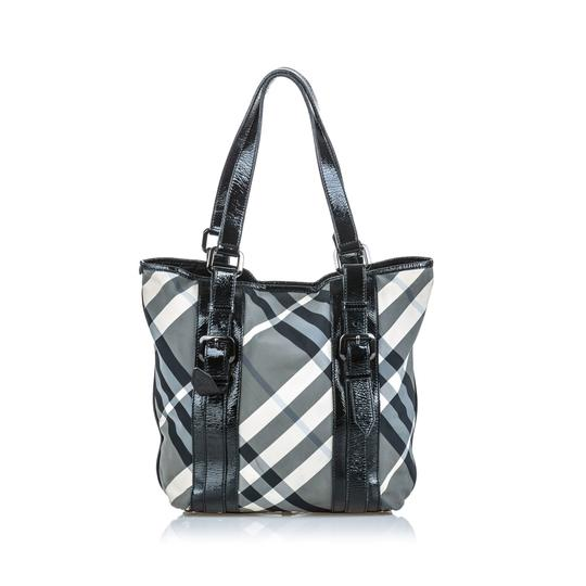 Burberry 9dbuto022 Vintage Leather Tote in Black Image 7
