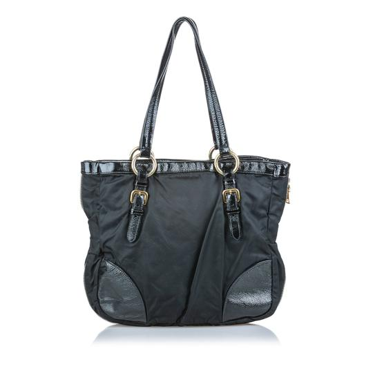 Prada 9dprto037 Vintage Patent Leather Tote in Black Image 3