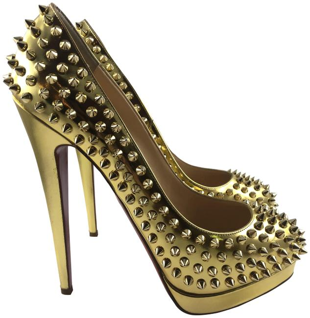 Item - Gold with Spikes Alti 160 Pumps Size EU 39 (Approx. US 9) Regular (M, B)