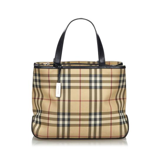 Preload https://img-static.tradesy.com/item/26161787/burberry-beige-with-multi-canvas-fabric-united-kingdom-brown-leather-tote-0-0-540-540.jpg