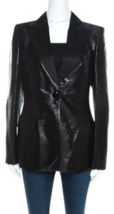 Escada Satin Tailored Viscose Black Blazer