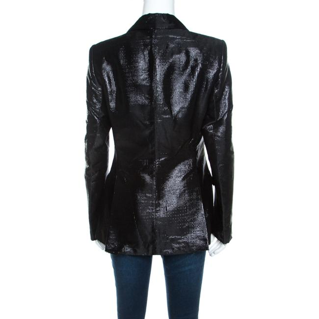 Escada Satin Tailored Viscose Black Blazer Image 2