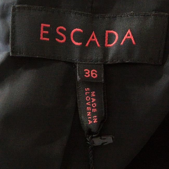 Escada Satin Tailored Viscose Black Blazer Image 5