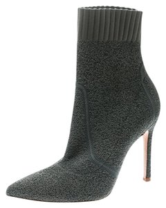 Gianvito Rossi Pointed Toe Ankle Knit Grey Boots