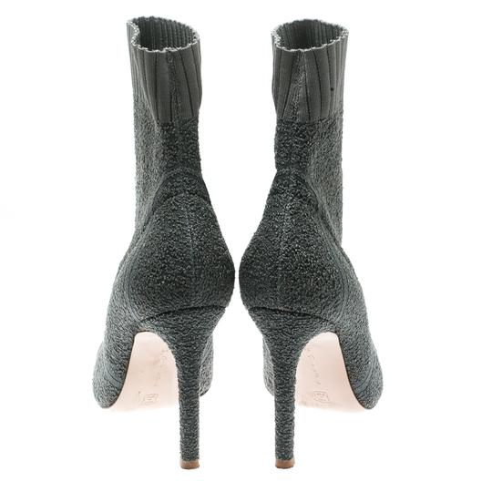 Gianvito Rossi Pointed Toe Ankle Knit Grey Boots Image 3