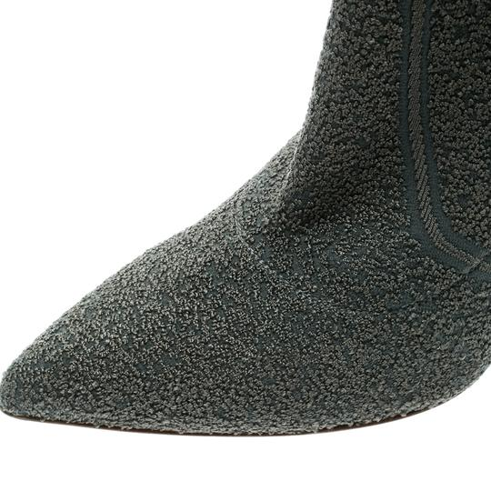 Gianvito Rossi Pointed Toe Ankle Knit Grey Boots Image 5