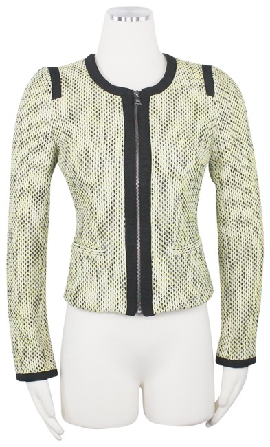 Preload https://img-static.tradesy.com/item/26161815/banana-republic-yellow-black-collarless-tweed-zip-front-jacket-parisian-fitted-woven-blazer-size-4-s-0-1-650-650.jpg