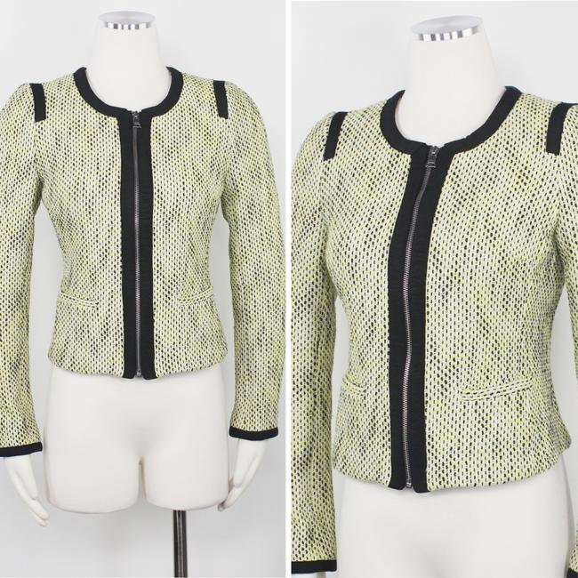 Banana Republic Tweed Career Professional Work Suiting Yellow Black Blazer Image 2