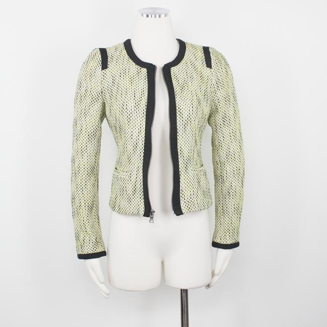Banana Republic Tweed Career Professional Work Suiting Yellow Black Blazer Image 3