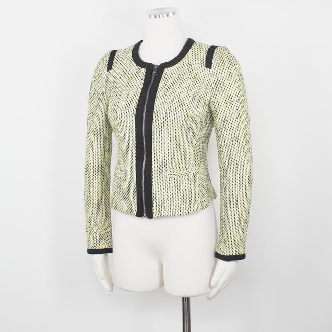 Banana Republic Tweed Career Professional Work Suiting Yellow Black Blazer Image 4