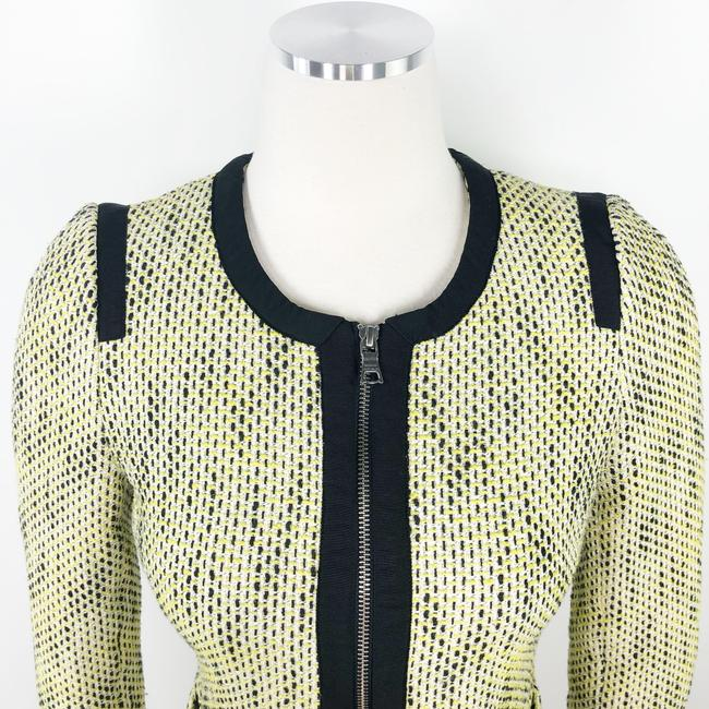 Banana Republic Tweed Career Professional Work Suiting Yellow Black Blazer Image 5