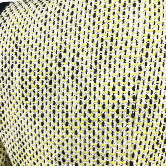 Banana Republic Tweed Career Professional Work Suiting Yellow Black Blazer Image 6