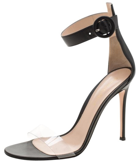 Preload https://img-static.tradesy.com/item/26161829/gianvito-rossi-black-leather-and-pvc-stella-ankle-strap-open-sandals-size-eu-38-approx-us-8-regular-0-2-540-540.jpg