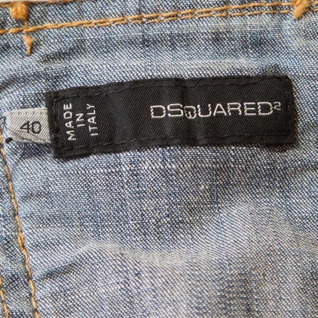 Dsquared2 Distressed Contrast Vest Womens Jean Jacket Image 3
