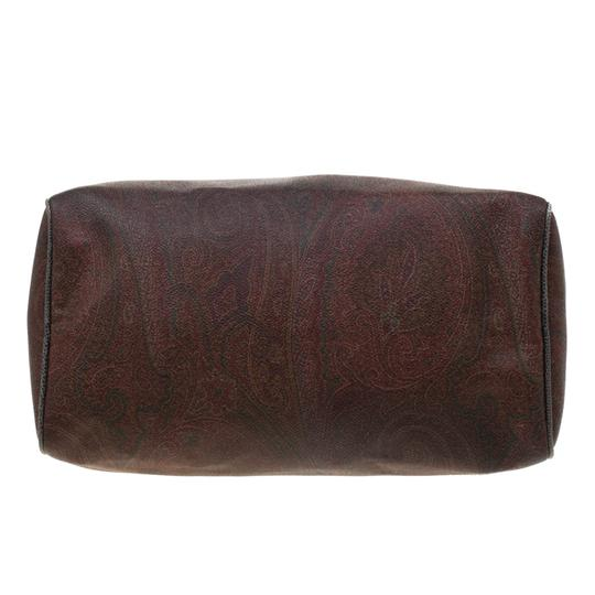 Etro Paisley Canvas Satchel in Brown Image 4