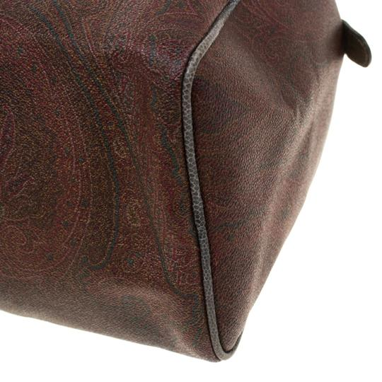 Etro Paisley Canvas Satchel in Brown Image 8